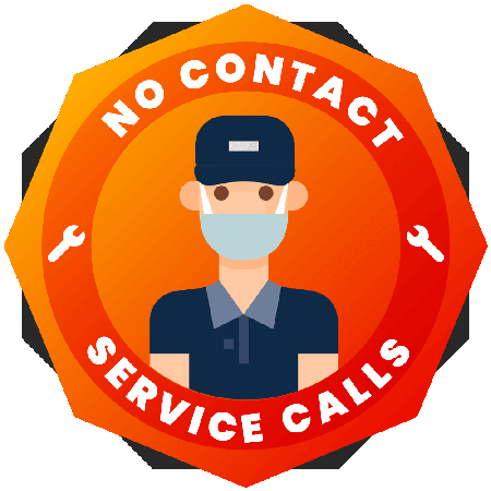 No Contact Service Calls Badge